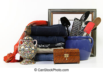 Resale - Everyday items for sale at a consignment store