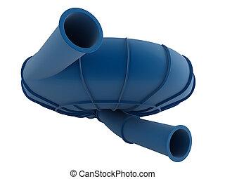 resbaladero agua, tazón