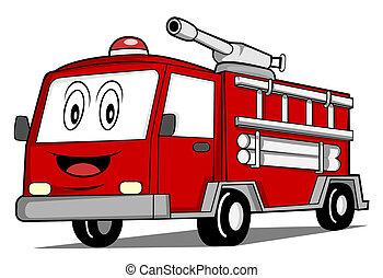 rescate, camión, coche