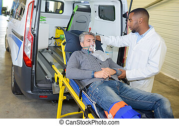 rescate de emergencia, paciente