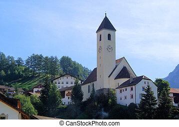 Reschen church 01