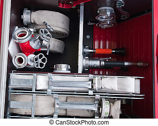 Rescue fire truck equipment
