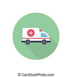rescue flat color icon