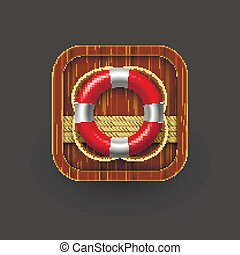 Rescue icon with lifebuoy. Vector eps10