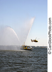 rescue in action on open water