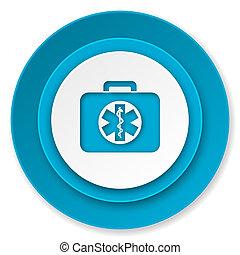 rescue kit icon, emergency sign