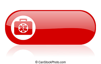 rescue kit red web glossy icon