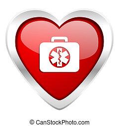rescue kit valentine icon emergency sign