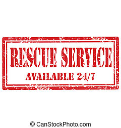 Rescue Service-stamp - Grunge rubber stamp with text Rescue ...