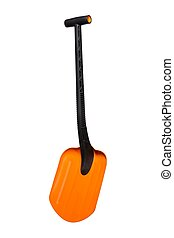 Rescue shovel - Bright orange lightweight rescue shovel ...
