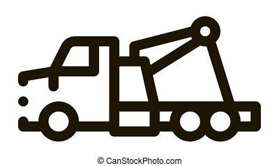 rescue truck Icon Animation