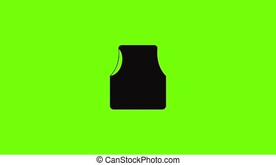 Rescue vest icon animation best simple object on green screen background