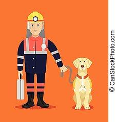rescuer, cão