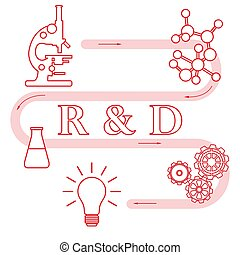 Research and development concept.