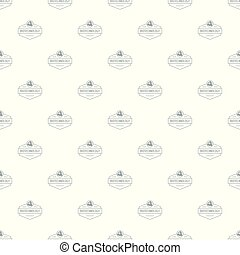 Research biology pattern vector seamless