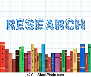 Research Books Graph Paper - Research word on graph paper...