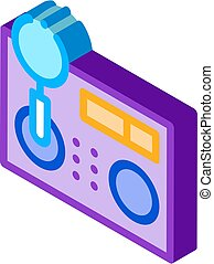 research broken radio icon vector. isometric research broken radio sign. color isolated symbol illustration