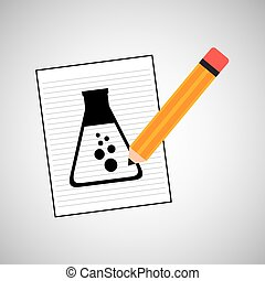 research chemical flask laboratory drawing icon