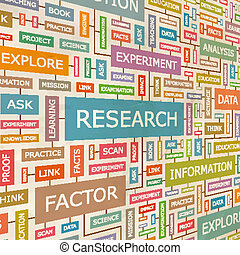 RESEARCH. Concept related words in tag cloud. Conceptual...