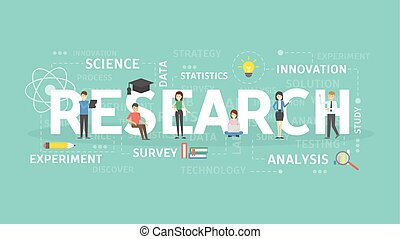 Research concept illustration. Idea of search, data and...