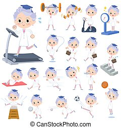 Research Doctor old women Sports & exercise