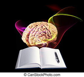 Research human brain. Science concept