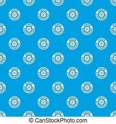 Research molecule pattern seamless blue