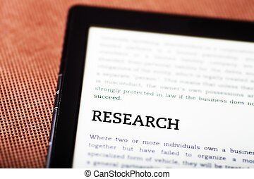 Research on ebook, tablet concept