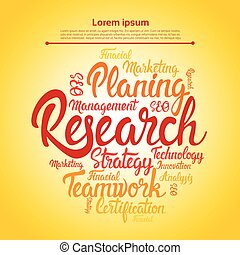 Research Planning Development Business Brainstorming Infographic