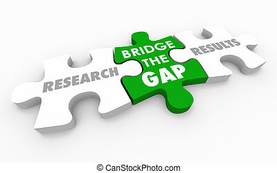 Research Results Bridge the Gap Puzzle Pieces Words 3d ...