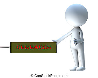 research word in announcement board
