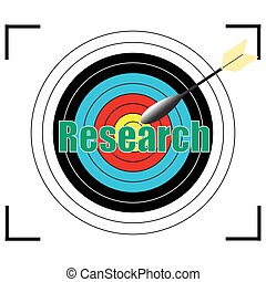 research word Vector, business concept.