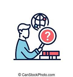 Research Work - modern vector line design single icon.