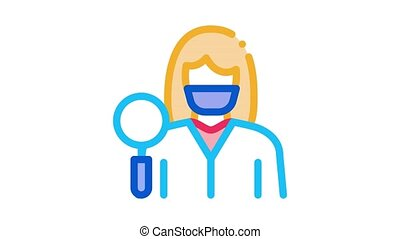 researcher dermatologist doctor Icon Animation