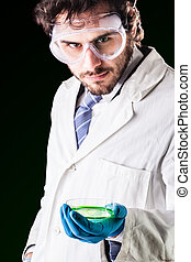 researcher with a petri dish