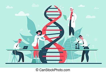 researches, dns, cas9, genetisch, genom, edits, labor, ...
