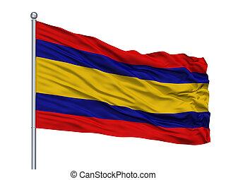 resen, municipality, cidade, bandeira, ligado, mastro,...