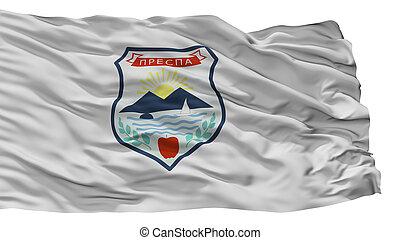 resen, municipality, cidade, bandeira, macedonia, isolado,...