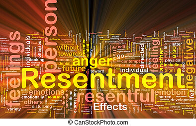 Resentment background concept glowing - Background concept...