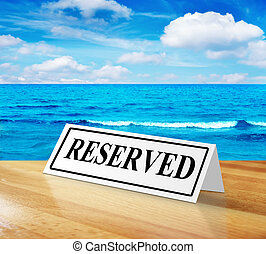 reserva, sinal praia