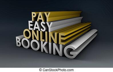 reservación, en línea