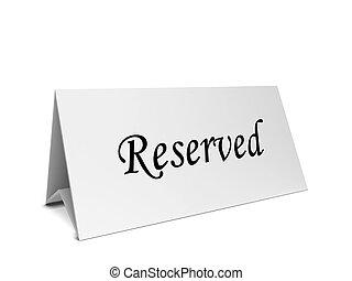 reservación, tarjeta, largo, tienda
