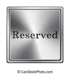 reservado, icono