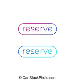 reserve buttons for web vector design