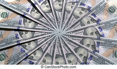 Reserve Currency - Past the camera slowly moving paper...