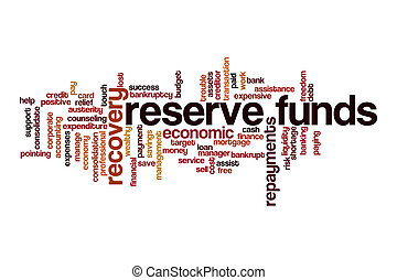 Reserve funds word cloud concept on white background