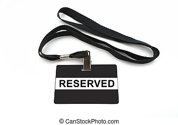 reserved badge isolated on white background