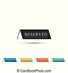 Reserved icon isolated on white background. Set elements in colored icons. Flat design. Vector Illustration