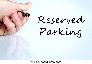 Reserved parking Hand Concept