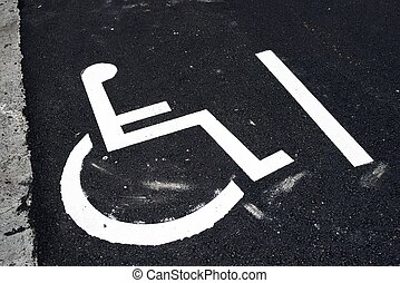 Reserved - Parking place reserved for disabled people.